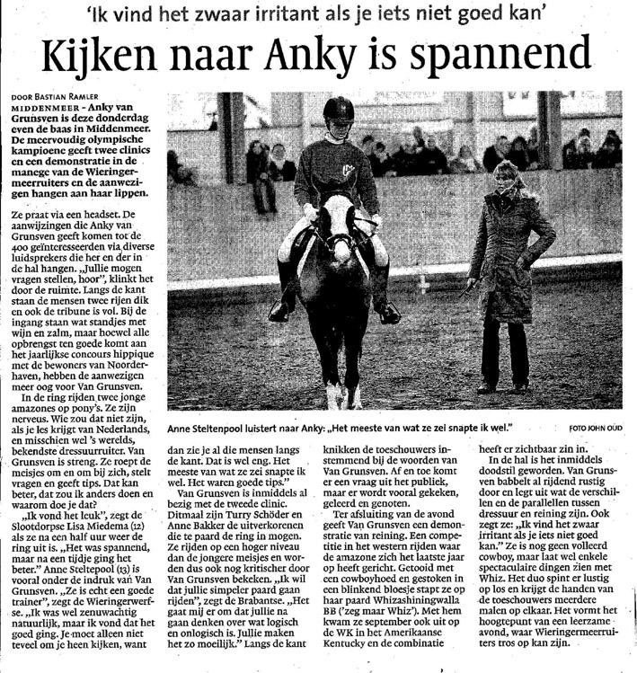 Anky met Anne artikel 18-11-2010